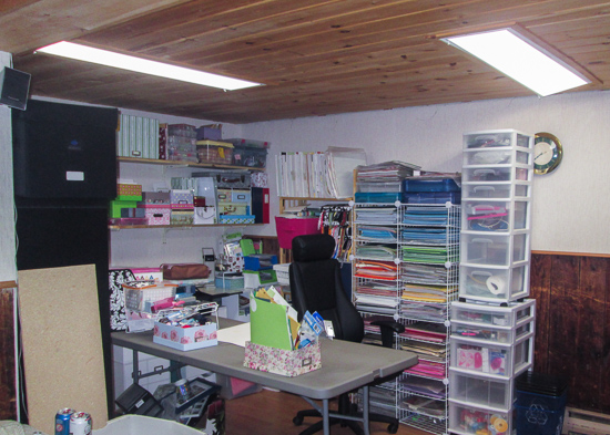 "This picture shows Donna's workspace surrounded by all of her ""goodies""!"