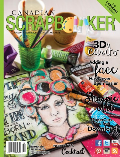 Canadian Scrapbooker Magazine Cover Summer 2014