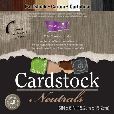CoredinationsCoreEssentialsCardstockNeutrals6X6