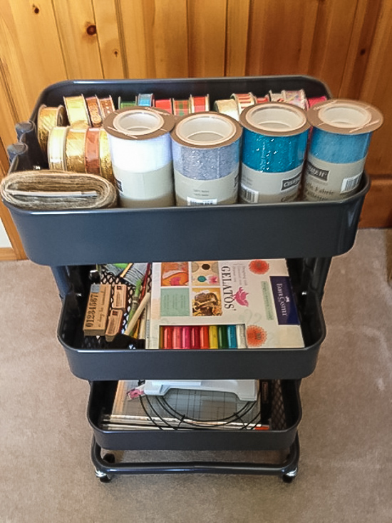 My grey Raskog Cart (from Ikea) for some craft supplies