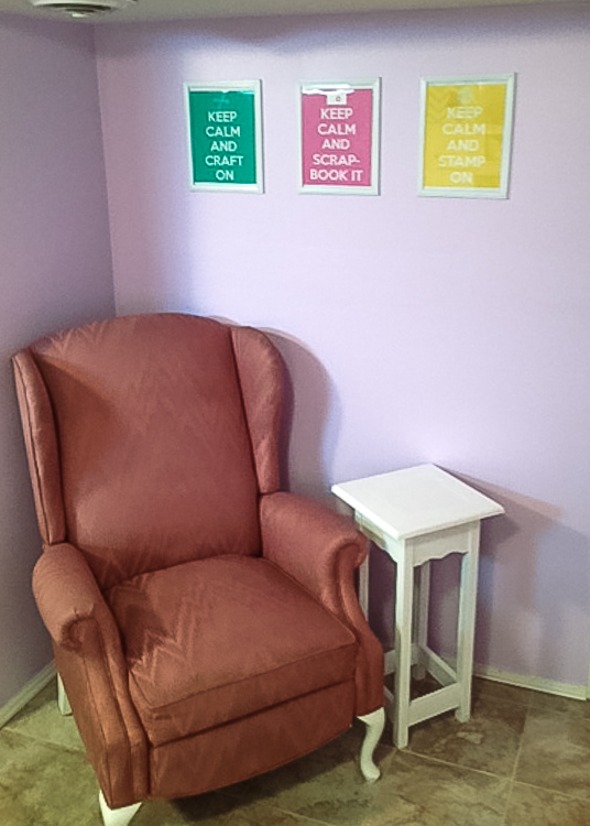 a comfy chair for reading Canadian Scrapbooker Magazines