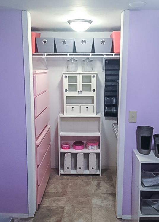 a great storage closet for ALL things crafty