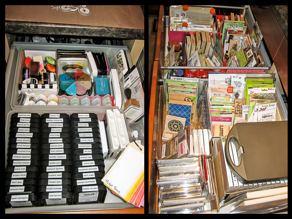 ink and stamp drawer