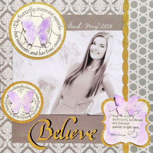@cdnscrapbooker @kellycreates @quietfiredesign #stamping #scrapbooking #layout #graduation