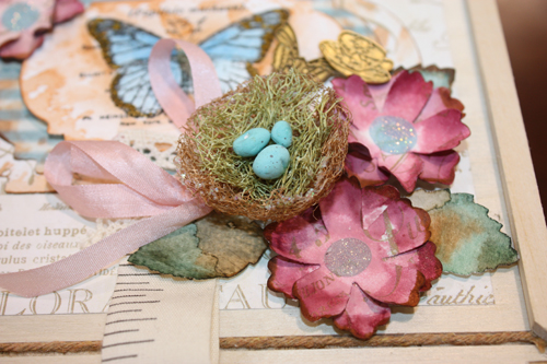 You can also use these for embellishments, just as shown in the centre of these flowers dusted with glitter.
